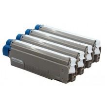 Toner Laserjet Colore compatibile rigenerato garantito OKI Executive ES5460BK