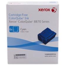 Xerox ColorStix ciano 108R00954 17300 pagine Solid Ink, pacco con 6 pezzi